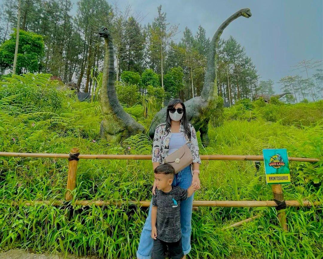 Dino Land Purbalingga, Asyiknya Melihat Dinosaurus dari Dekat