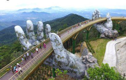 Golden Bridge Vietnam, Jembatan Spektakuler yang Ditopang Tangan Raksasa